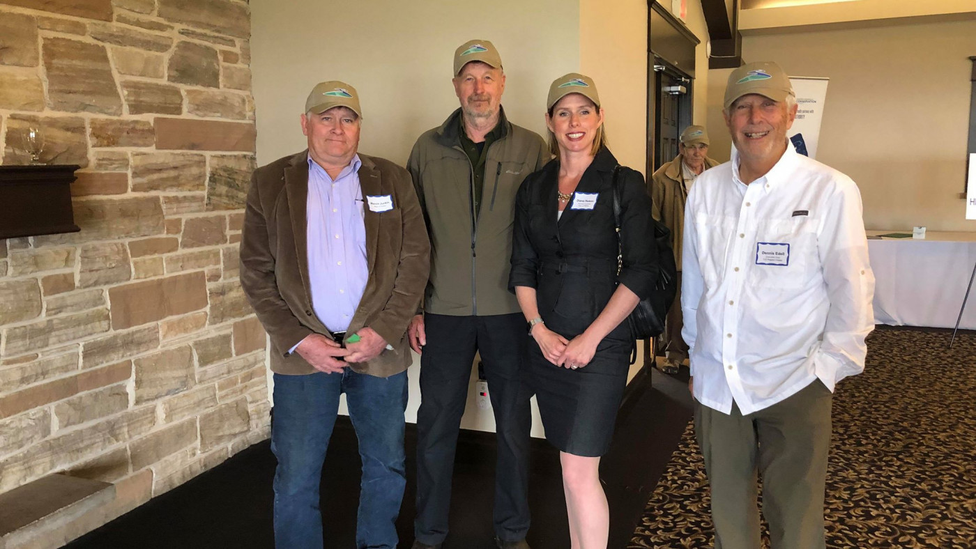 Vice Chair, Diana Huson, with Trout Unlimited Canada members