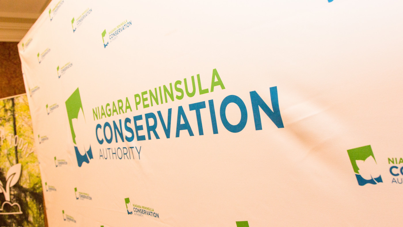NPCA logo on giant banner at Conservation Awards