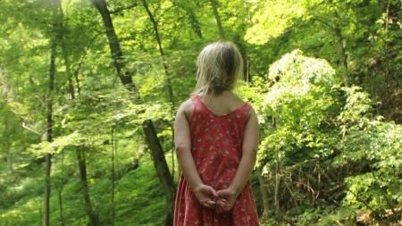 exploring nature young girl
