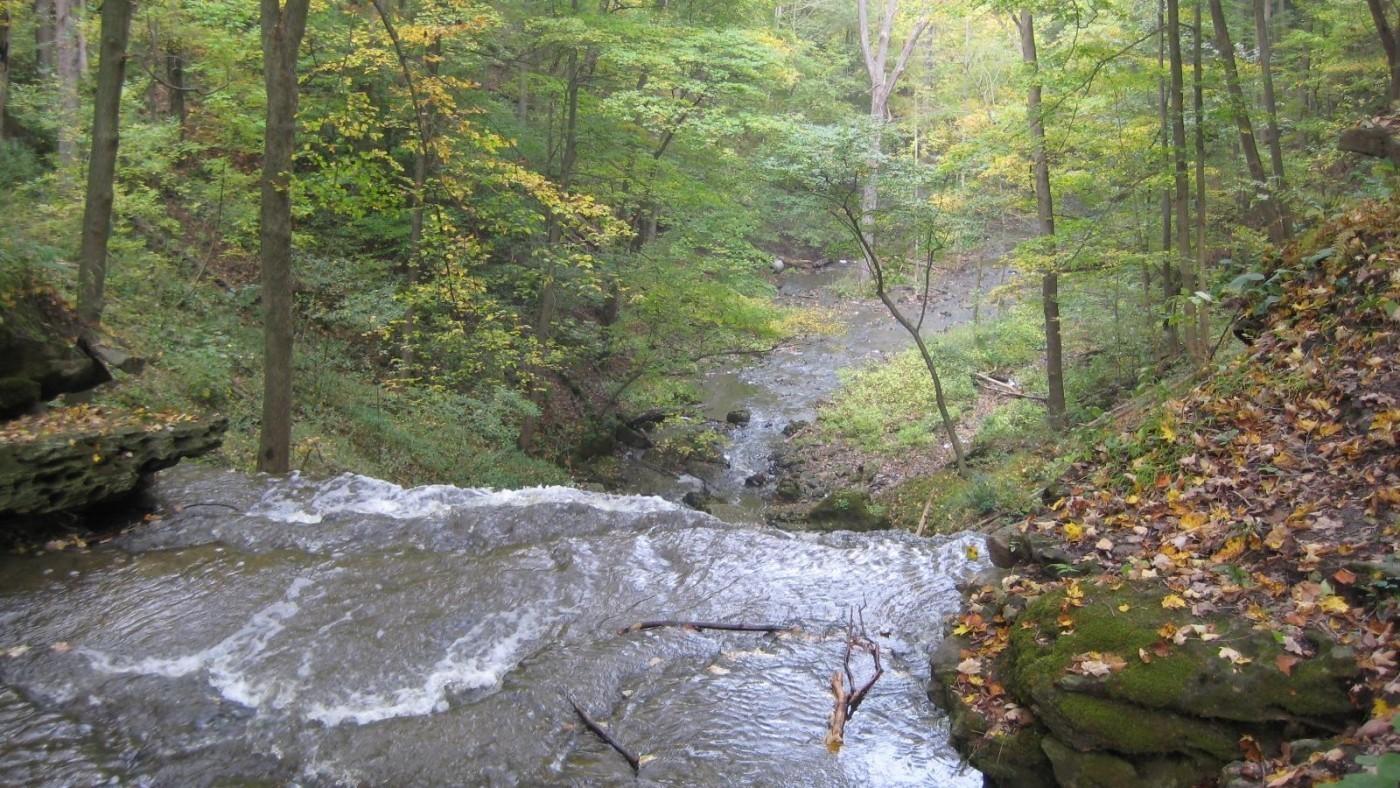 Louth Falls in the Autumn season