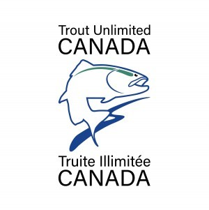 Trout Unlimited logo, fish