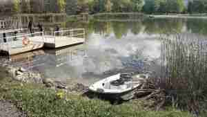 Dock and boat of Chippawa Creek