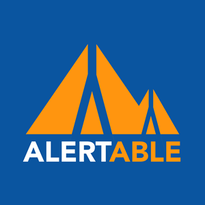 Orange peak mountains logo for Alertable App