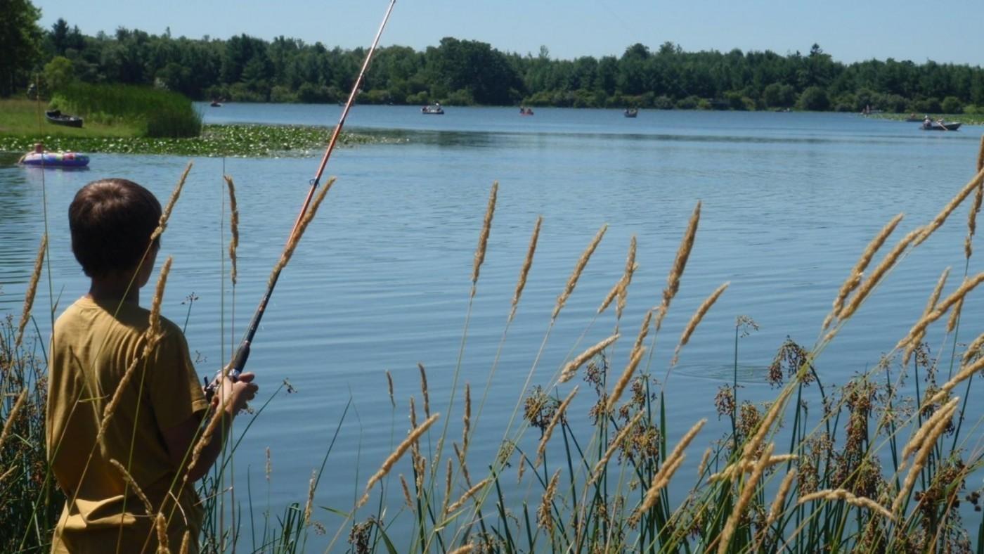 child fishing at chippawa